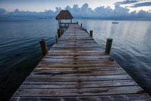 Scenic View Of Pier In Caribbe...