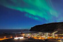Scenic View Of Aurora Borealis...