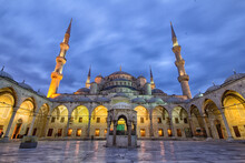 View Of The Blue Mosque Of Istanbul In Turkey