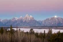 Full Moon Above Teton Mountain...