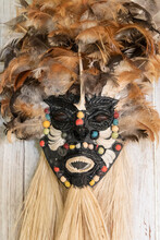 Typical Wooden Mask, Amazon Handcraft Art On Local Store