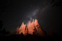 Milky Way Over Hoodoos In Bryc...