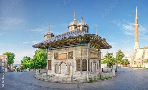 Fotografia Fountain of Sultan Ahmet in Istanbul, Turkey