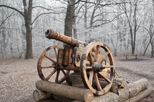 Old Wooden Cannon Of The Cossa...
