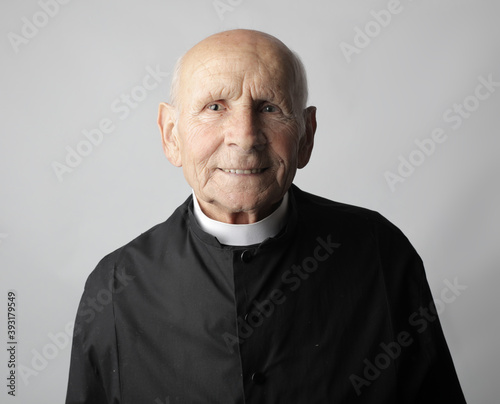 Fotografie, Obraz portrait of a old priest
