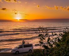 Vanlife At Sunset