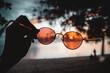 Leinwandbild Motiv Blick durch die rosarote Brille