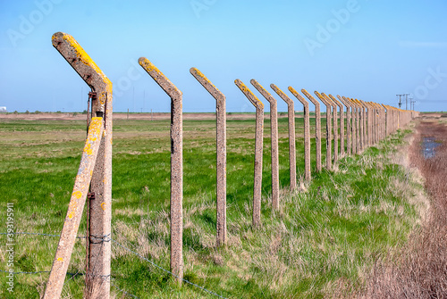 Abandoned military infrastructure at Orford Ness in Suffolk, UK Tableau sur Toile