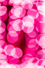 Holiday Lights With Cranberry Colored Background