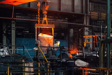 Metal Processing In The Foundry At The Metallurgical Plant