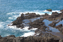 Coast With Rocky Beaches And S...