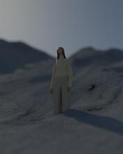 雪山の女性