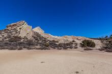 Landscape In California Desert Vasquez Rocks Sunny Day