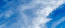 Feine Zirro Stratuswolken In Blauer Himmel Textur