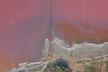 High Angle Drone View Of Pink ...