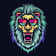 lion head illustration vector
