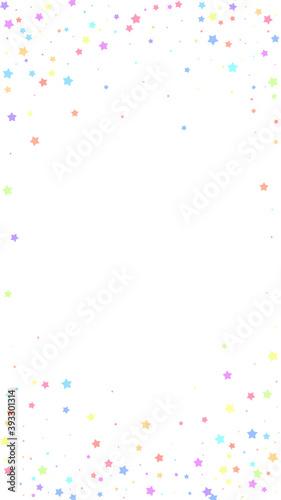 Festive divine confetti. Celebration stars. Colorf Fotobehang