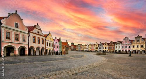 Tela Telč Square registered in UNESCO monuments