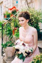 Beautiful Bride In Tender Wedd...