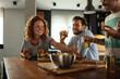 Leinwandbild Motiv Meals enjoyed with you always taste better