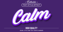 Editable Text Style Effect - Calm With Purple Outline Text Style Theme.