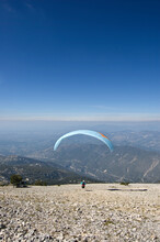 Ventoux Paraglider Launch