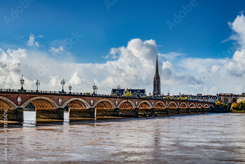 Pont de Pierre - Stone Bridge - in Bordeaux, France