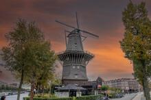 Windmill De Gooyer At Amsterda...