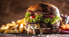 Classic Beef Burger With Chees...