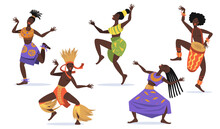 African Female Dancers Flat Se...