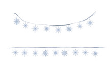Watercolor Paint Snowflakes Ch...
