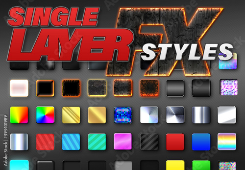 Single Layer Fx Styles