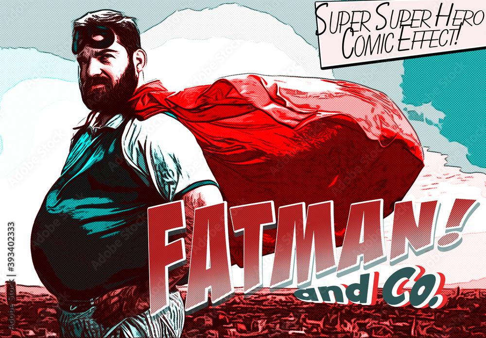 Fototapeta Super Hero Comic Book Effect