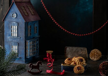 Christmas Card, Dark Backgroun...