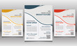 Trendy Education Flyer Design Template with Red, Blue and Yellow