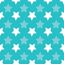 Vector Gift Box And Star Seamless Pattern. Suitable For Wrapping Paper, Packaging, Background Pattern, Festive Season And Other Design Projects.