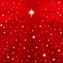 Red Christmas Greeting Card Banner Background