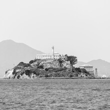 Waterfront With Alcatraz Island In Background Against Sky At San Francisco, California, USA