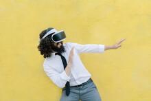 Man Wearing Virtual Reality Ey...