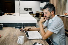 Male Entrepreneur Working Whil...