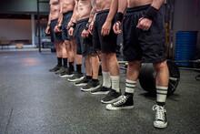 Shirtless Athlete Wearing Spor...