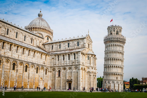 Fototapeta Piazza dei miracoli in Pisa with the leaning tower, Tuscany, Italy