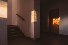 Sunlight On Wall And Door In B...