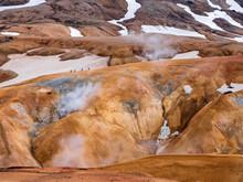 Iceland, Southern Region, Hveradalir Hot Springs In Kerlingarfjoll Range