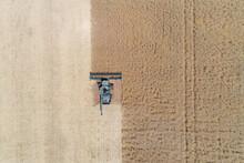 Canola Field Harvest In Western Australia