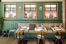 Interior Of Stylish Restaurant...