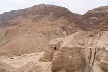Qumran Caves In The Judean Desert In Israel