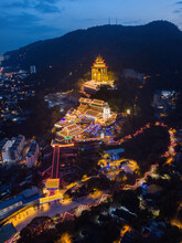 Lunar New Year Light Up At Kek Lok Si Temple In Penang, Malaysia.