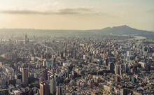 View Of Taipei City From Taipei 101 Building In Taiwan.