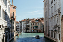 View Of The Canal And Boats In...